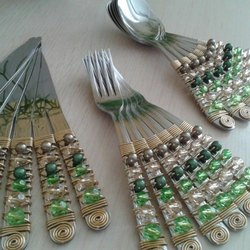 Multicolor Beaded Cutlery Set