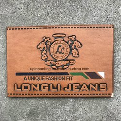 In Stock Yes Mens Branded Leather Embossed Labels, Packaging Type: 500, For Garments