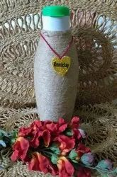 Terracotta Clay Water Bottle Jute Cover