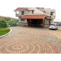 Circular Pattern Square Paver Blocks