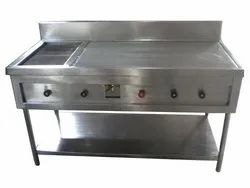 Stainless Steel CHAPATI PLATE WITH PUFFER, For Commercial