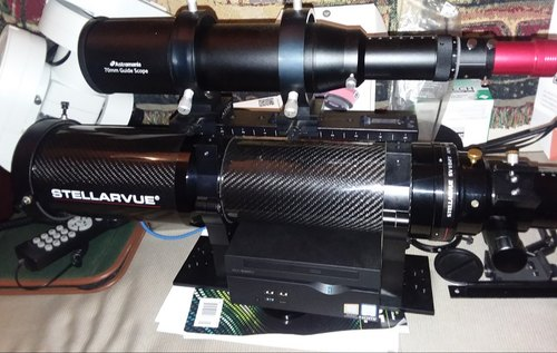Compact 60mm Guidescope finderscope with Helical Focuser, MicroFocuser  guiding telescope