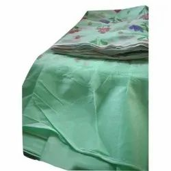 Light Green Poly Cotton Printed Mosquito Bed Net, Size: 6 L X 7 W Feet