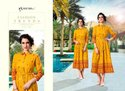 Shubh NX Aayat Rayon Printed Long Kurti Catalog Collection