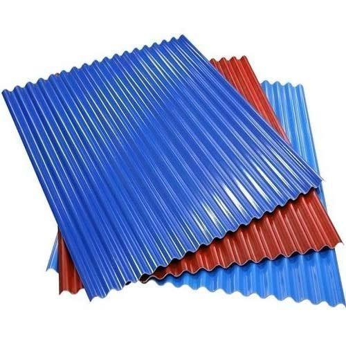 Colored Corrugated Roofing Sheet, Thickness: 3-5 mm