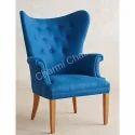 Traditional Blue Club Chair