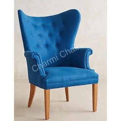 Traditional Blue Club Chair