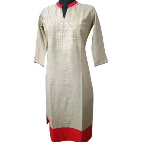 Stand Collar Designs For Kurti : Xxl ladies cotton stand collar kurti rs piece s