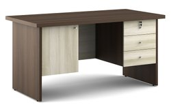 Modern Action Desking Office Table : 1500wx750dx750h With 3 Drawer 1shutter