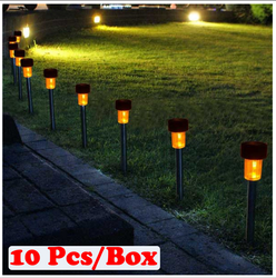 Solar Garden Light SLR01 Yellow Color 10pcs Box
