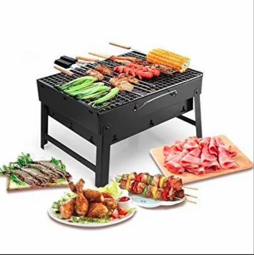 Stainless Steel Charcoal Folding Portable Barbecue Grills, For Restaurant
