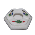 Stone Inlay Floral Art Work Master Piece Ashtray