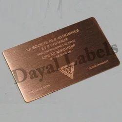 Copper Nameplates