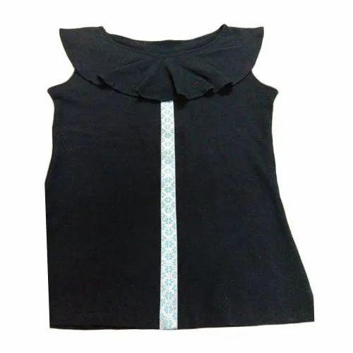 Cotton Plain Ladies Designer Top, Size: XL