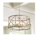 Traditional Iron Drum Stylish Hanging Chandelier