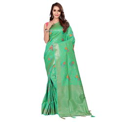 1532 Ladies Jacquard Silk Saree