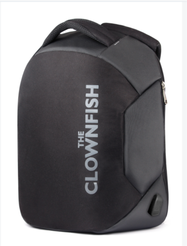 6b65c1022e The Clownfish Smart Anti Theft Backpack with USB Charging Port 15.6 inch  Laptop Backpack