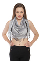 Digital Printed Triangular scarves with  beaded Fringes