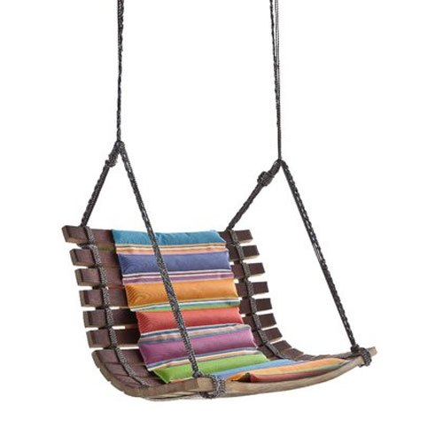 Arvabil Rope Wood And Fabric Handmade Natural Wood Hanging Swing Chair Ns134 Seating Capacity 1 Seater Rs 13999 Piece Id 22105087488