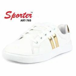 Sporter Women Canvas White Sneakers