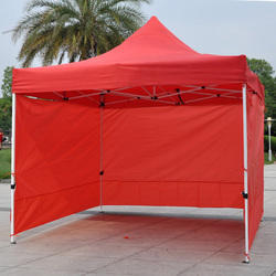 Plain Red Advertising Canopy