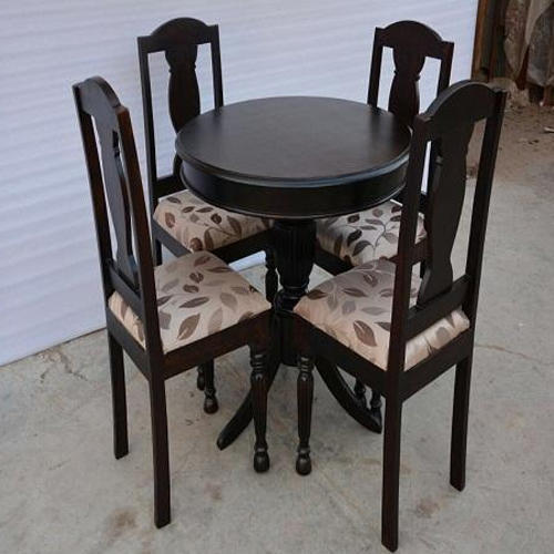 Brown Living Design 4 Seater Wooden Dining Table Set Rs 25000 Set