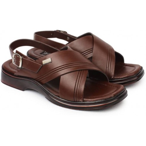 ee83abc0c Synthetic Leather Action Men Brown Sandals, Rs 499 /pair | ID ...