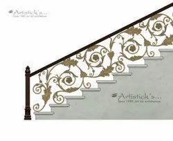 Brass Staircase Railing