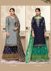 Latest Heavy Embroidered Readymade Palazzo Suit