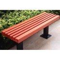 Iron Outdoor Backless Bench