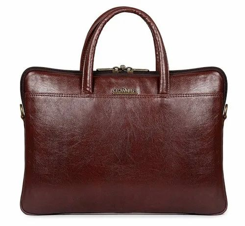 The Clownfish Declan Series Faux Leather Laptop Messenger Bag for 14 inch laptops-Coffee