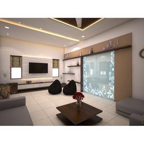 3bhk Flat Interior Services Work Provided False Ceiling Pop Rs 1000 Square Feet Id 21397677155