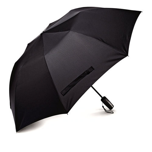 Plain Polyester Black Hand Umbrella