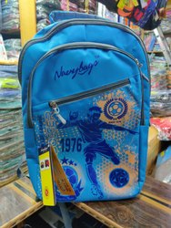 Blue Printed Laptop Bag