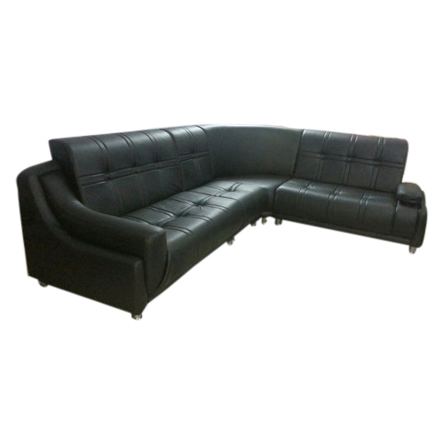 B2 Sofa Collection Black Leather L Shaped Sofa Rs 2400 Running