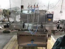 Automatic Servo Based Hand Sanitizer Filling Machine