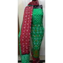 Ethnic Bandhej Art Silk Suit