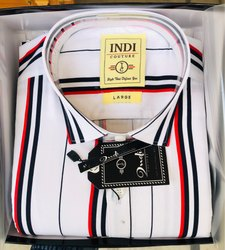 Indi Couture Striped Shirts, Size: 38-42