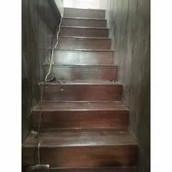 Brown Stairs PVC Vinyl Flooring, Thickness: .65 Mm