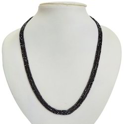 Sparkling Triple Line Spinal Beads Necklace 215