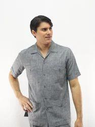 Cotton Plain Safari Suit, Size: 38, 40, 42 & 44