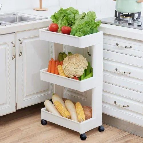 Abs Plastic 3 Layer Kitchen Storage, Kitchen Storage Space Savers