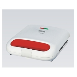 White / Red Inalsa Phoenix 750W Sandwich Toaster
