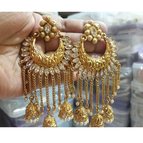 1f6f8e466 Golden Wedding And Engagement Traditional Antique Fancy Earrings, Rs ...
