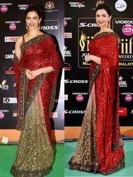 Stunning Heavy Party Wear Embroidered Designer Banarasi Georgette Saree