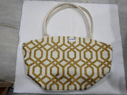 Printed Jute Bag With Luxury Handle