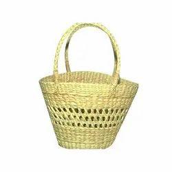 Brown Kauna Handmade Fancy Jali Bag, Size: 11 X6 X7.5inch