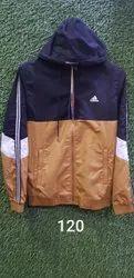 Mens Trendy Full Sleeves Polyester Hooded Jacket