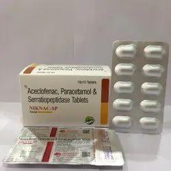 Aceclofenac Paracetamol & Serratiopertidase Tablets