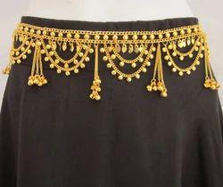 Gold Plated Belly Dance Kuchi Chain Belt Event Fashion Garba